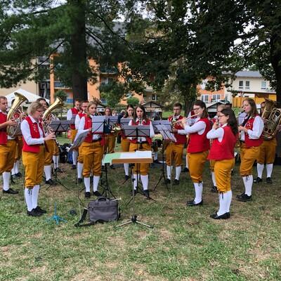 Platzkonzert beim Kuchenfest in der Partnerstadt Weida