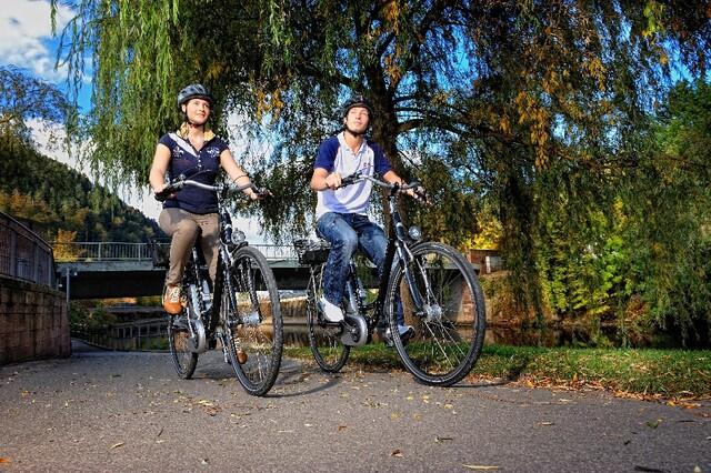 Radfahrer am Nagolduferweg