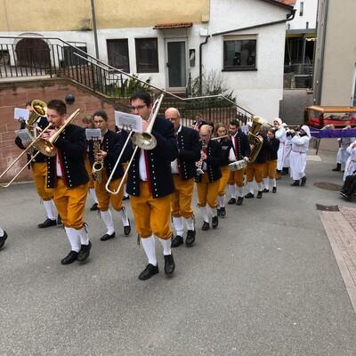 Drei Prozessionen begleitet die Stadtkapelle jährlich in und um Calw.