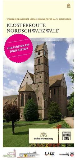 Klosterroute Nordschwarzwald_Titel der Karte