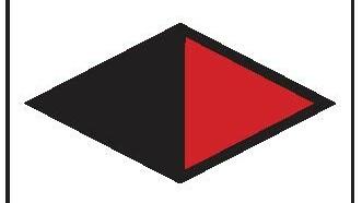 schwarz-rote Raute des Ostweges